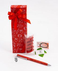 bomboniera penna rossa ciondolo gufo tabor personalizzata