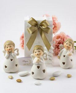 bomboniera sculturina angelo porcellana forme assortite