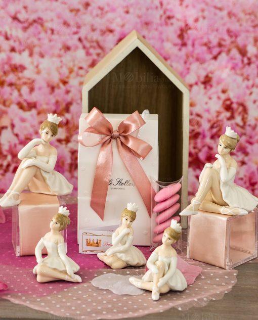 bomboniera sculturina ballerina con tutù seduta varie forme e misure