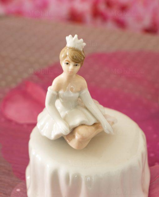 carillon porcelana con ballerina seduta