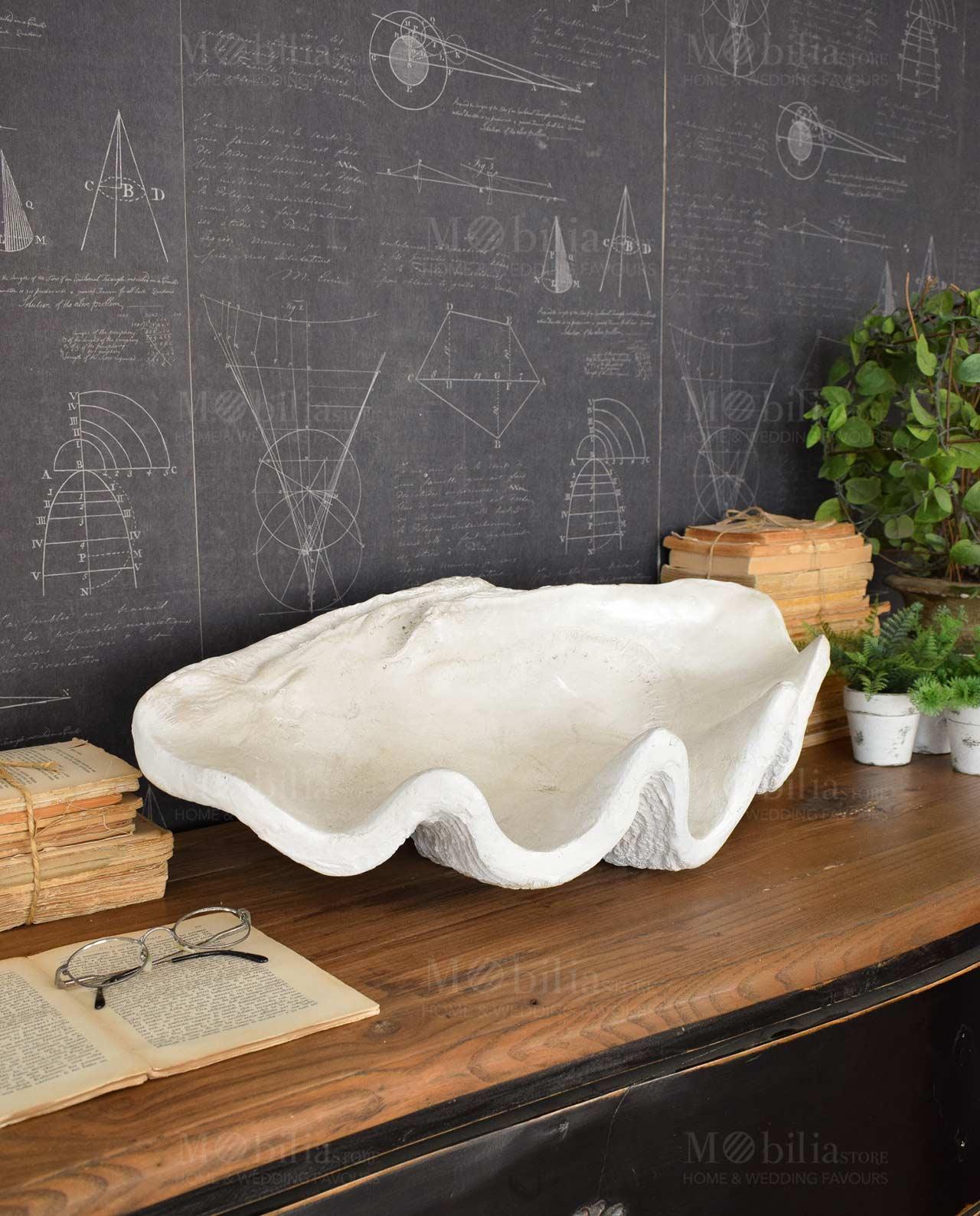 Centrotavola conchiglia bianca mobilia store home favours for Mobilia recensioni