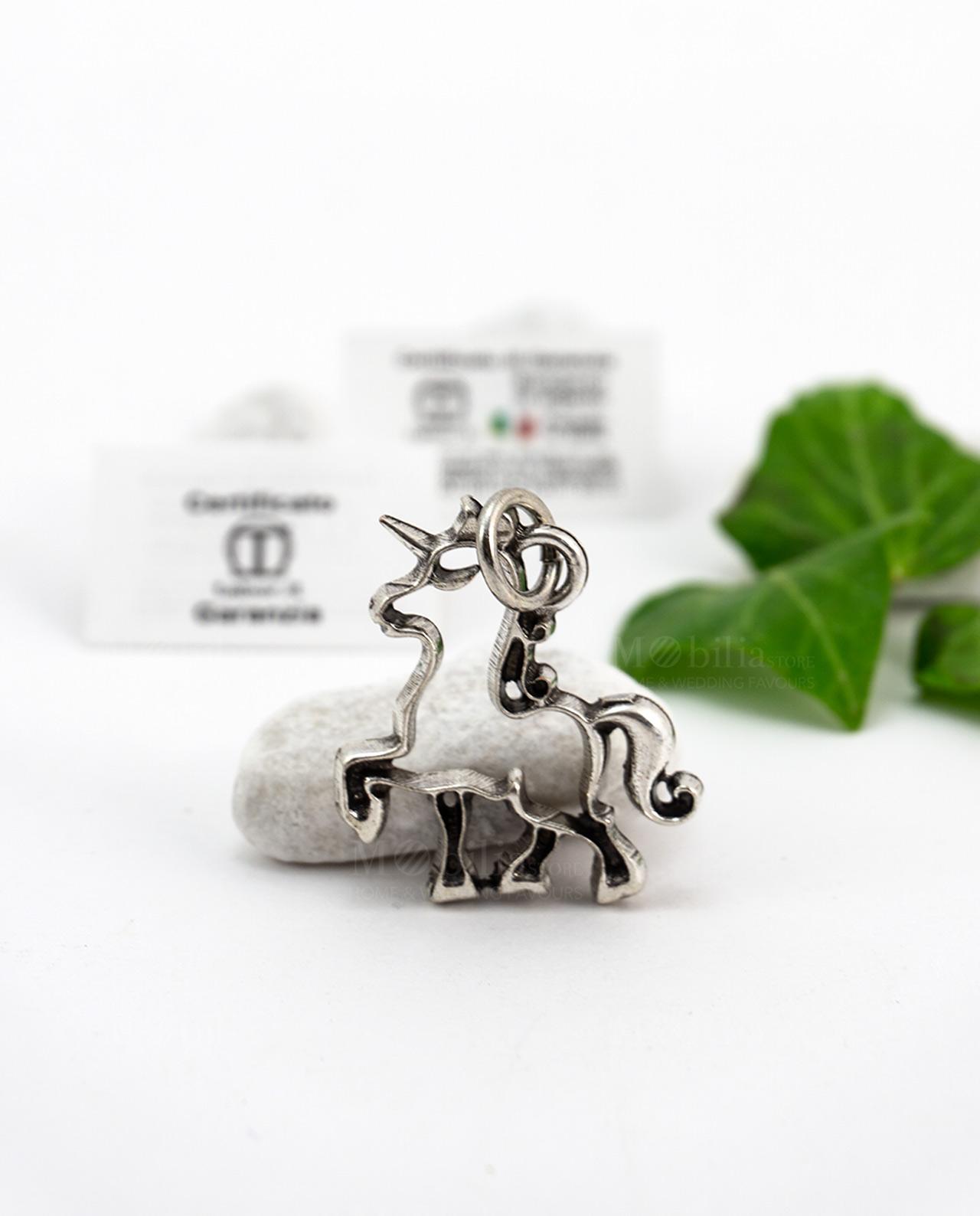 vasta selezione di e4187 ebfc9 Ciondolo unicorno argento Tabor