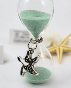 clessidra vetro ciondolo stella marina tabor
