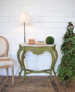 consolle classico verde con marmo orchidea milano