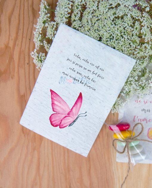 grafica farfalla rosa