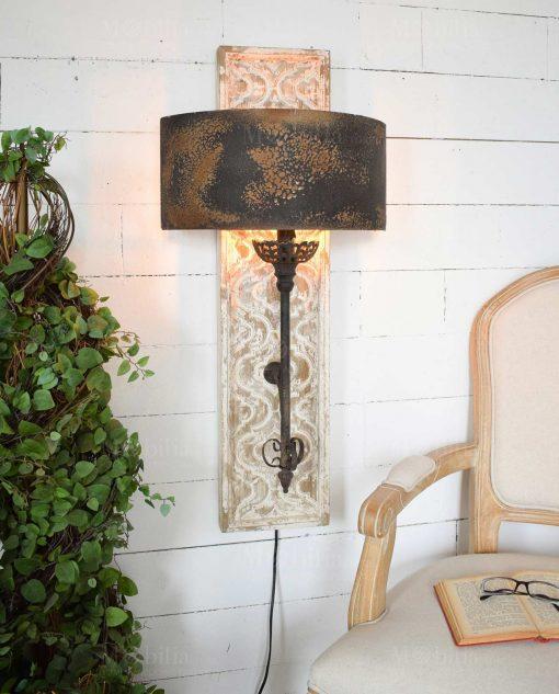 lampada da parete effetto usurato orchidea milano