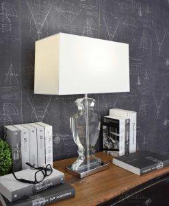 lampada da tavolo moderna paralume bianco orchidea milano