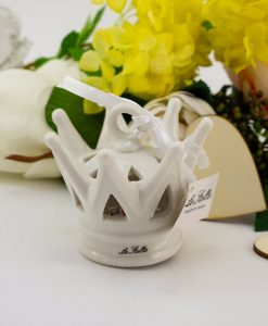 lampada led corona porcellana bianca