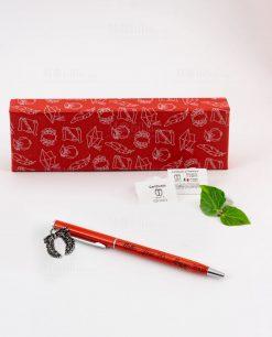 penna rossa ciondolo corona alloro tabor personalizzata