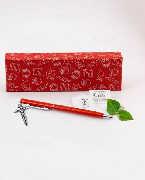 penna rossa ciondolo esculapio tabor