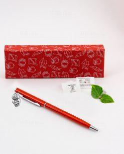 penna rossa ciondolo gufo tabor