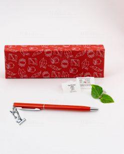 penna rossa ciondolo microscopio tabor