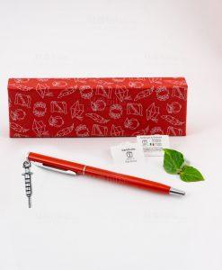 penna rossa ciondolo siringa tabor