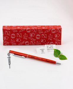 penna rossa ciondolo siringa tabor personalizzata