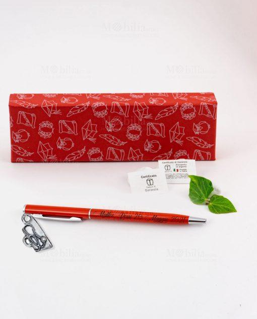 penna rossa ciondolo stetoscopio tabor personalizzata