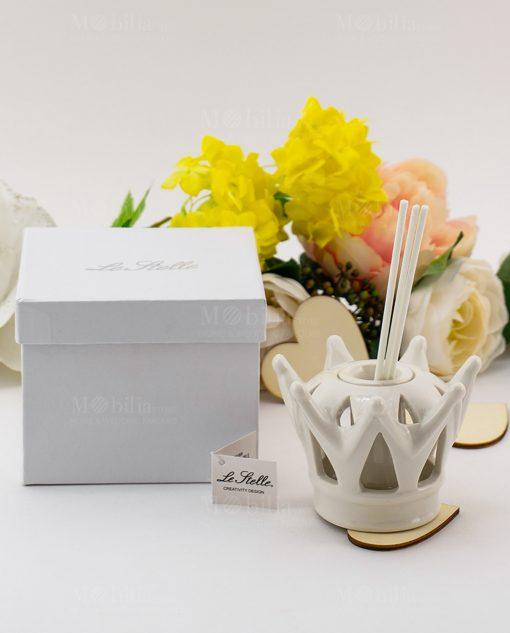 profumatore corona con scatola e bastoncini