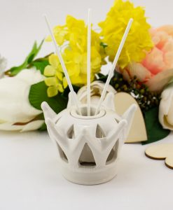 profumatore corona porcellana con bastoncini