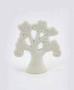sculturina albero della vita medio bianco
