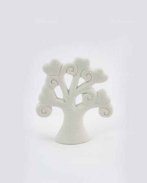 sculturina albero della vita piccolo bianco