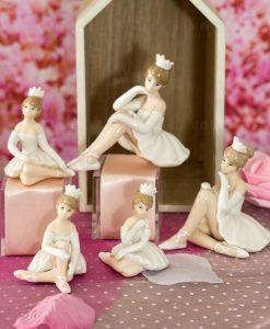 sculturina ballerina con tutù seduta varie forme e misure