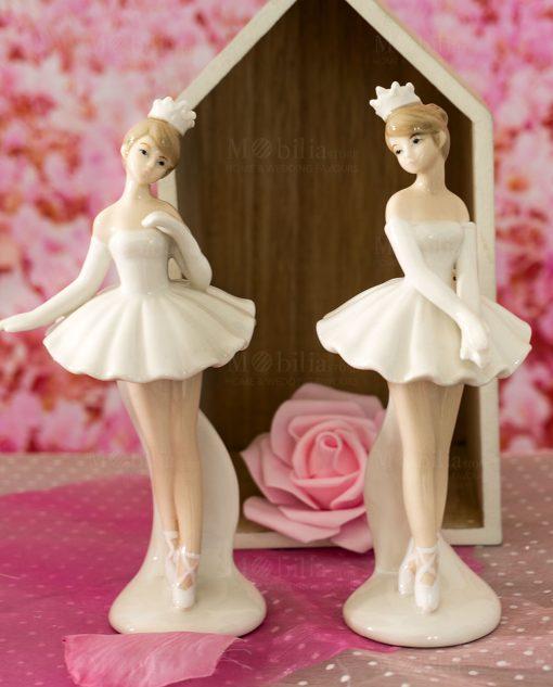 sculturina grande ballerina con tutù e coroncina modelli assortiti in pieid