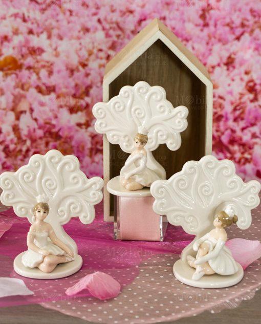 sculturina piccola ballerina seduta con albero della vita porcellana varie forme