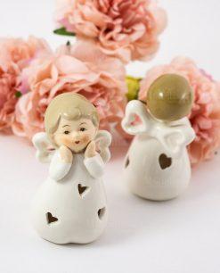 sculturina porcellana angioletto avanti e retro