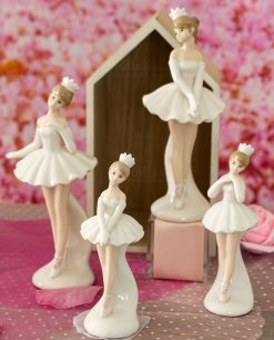 sculturina porcellana ballerina varie misure e forme in piedi