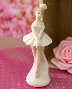 sculturina porcellana piccola ballerina in piedi