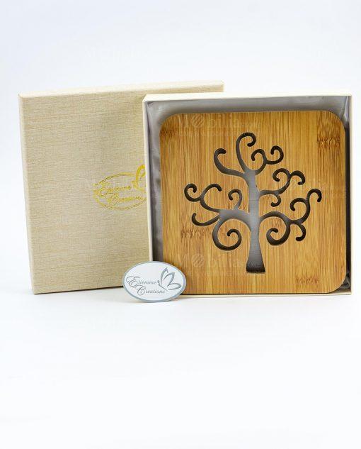 sottopentola intgalio albero della vita dentro scatola