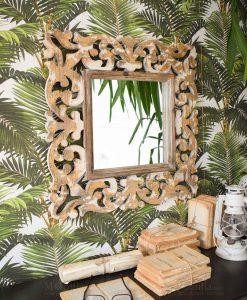 specchio da parete legno con cornice barocca orchidea milano
