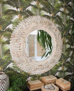 specchio rotondo da parete effetto anticato orchidea milano