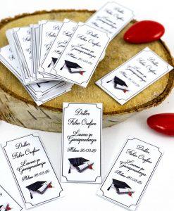 bigliettino personalizzato cerimonia stampa tocco e pergamena