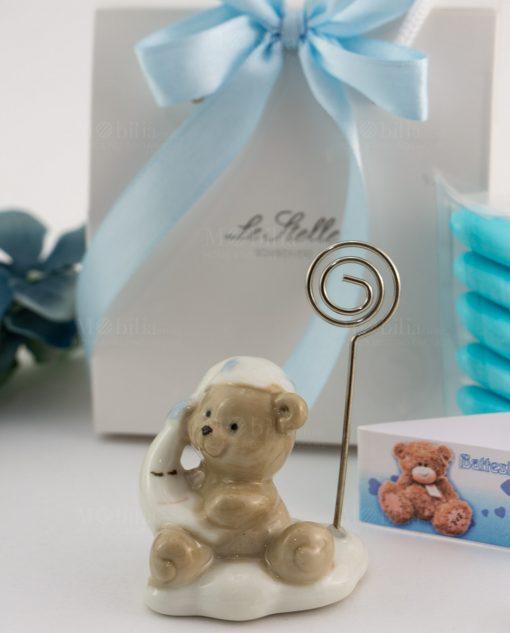bomboniera orsetto porcellana memoclip