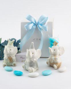 bomboniera sculturina porcellana elefante modelli assortiti
