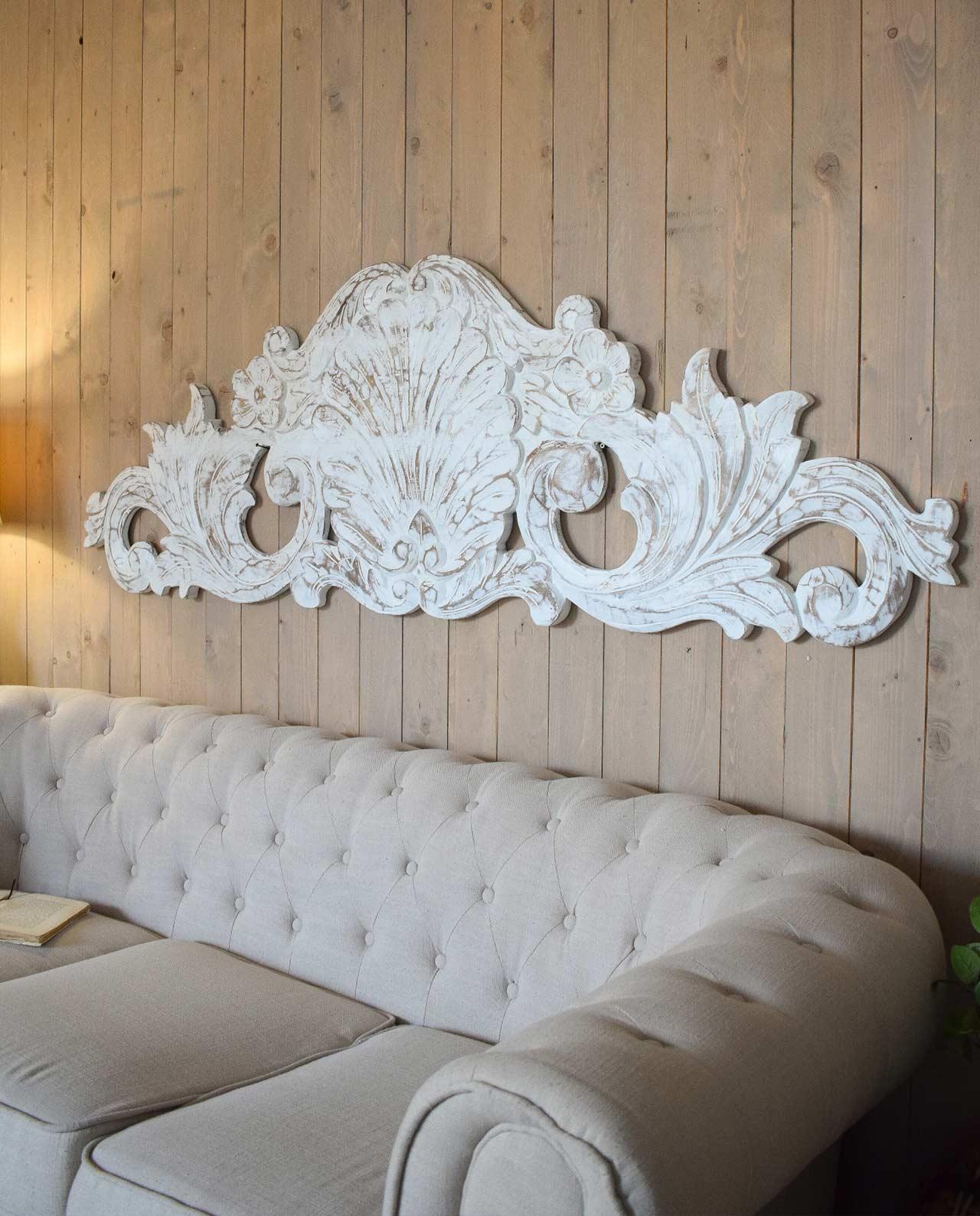 Testata legno intarsiata barocco