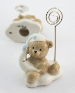 memoclip porcellana orsetto con cappello