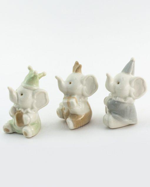 sculturina porcellana elefantino modelli assortiti