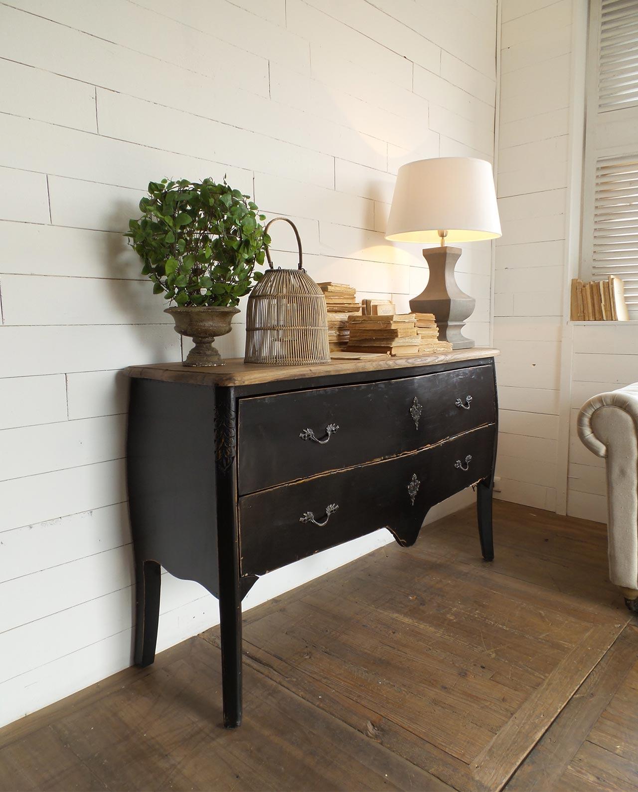 Cassettone legno nero vintage mobilia store home favours for Mobilia recensioni