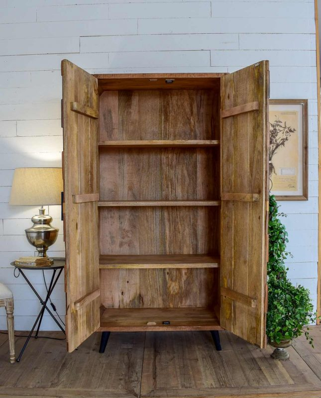 Armadio 2 ante legno riciclato aspen - Mobilia Store Home ...