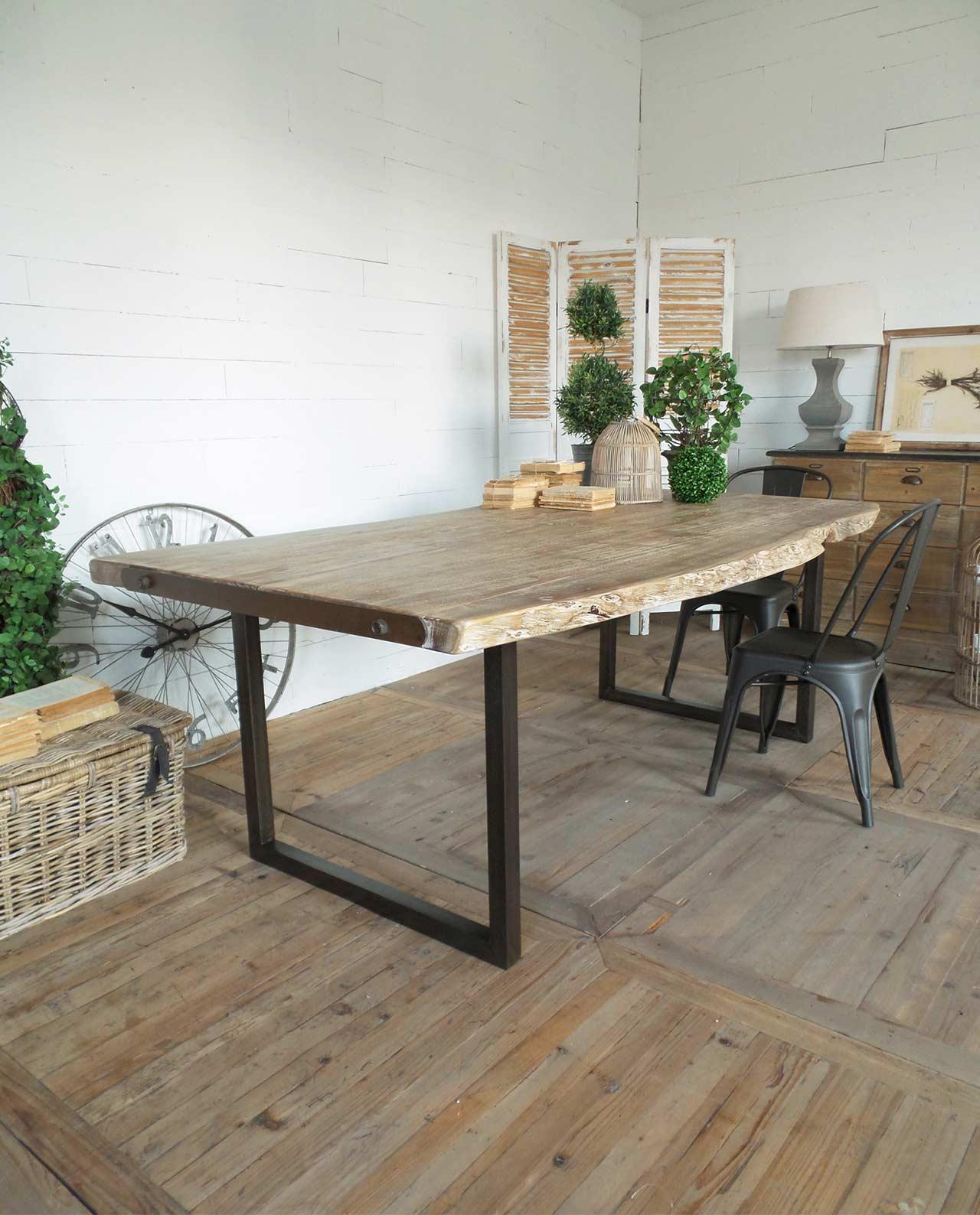 Tavolo Da Pranzo Legno Di Acacia E Ferro Brooklyn Mobilia Store Home Favours