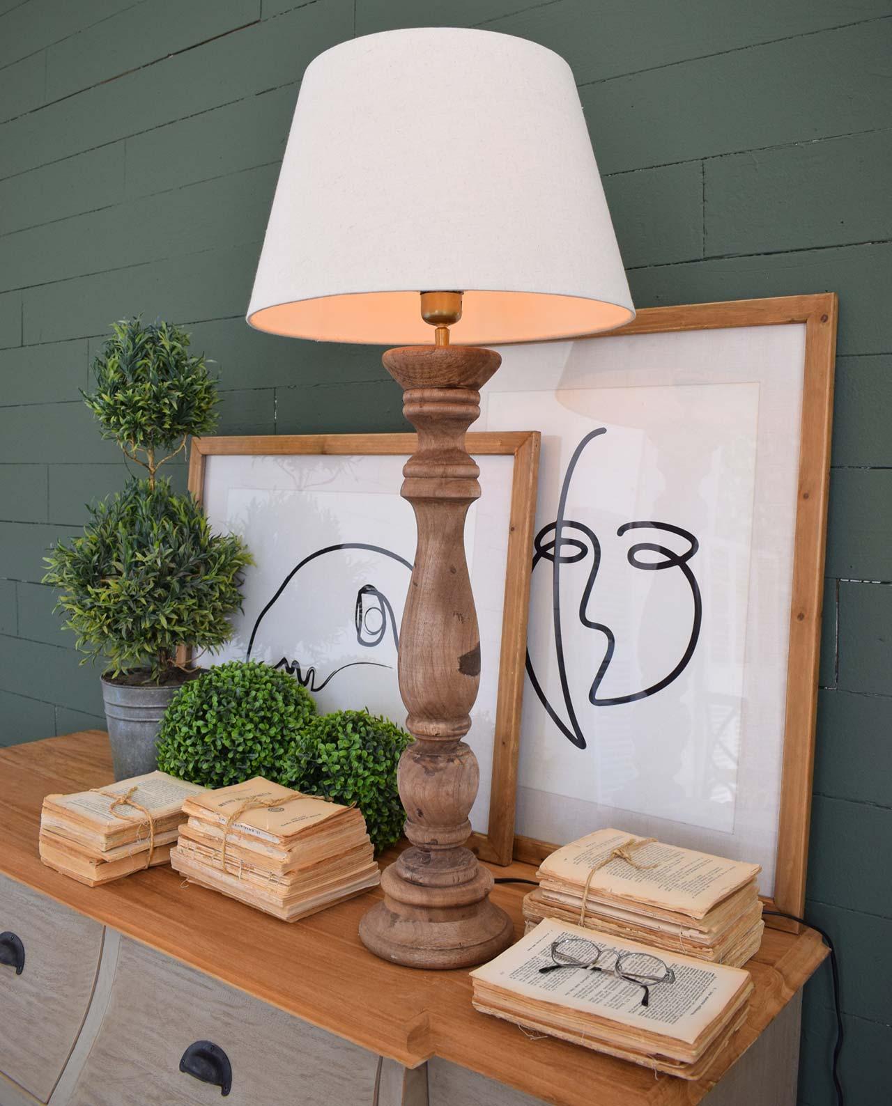 Lampada Da Tavolo Legno Naturale Varie Misure Mobilia Store Home Favours